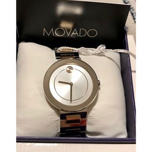 NWT Movado Silver Two-Tone Stainless Steel Watch